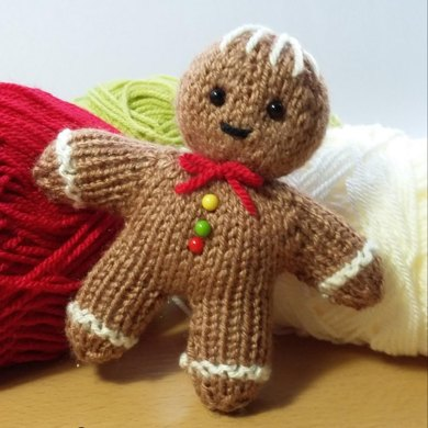 Gingerbread Man Knitting Pattern By Claire Fairall