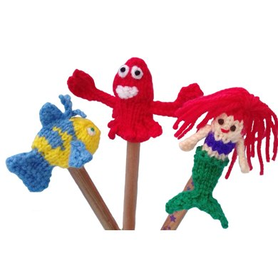 Little Mermaid Finger Puppets Pattern Knitting Pattern By Ayrshire Knits