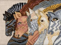 Mill Hill Moroccan Horses Cross Stitch Kit - 6in x 6in