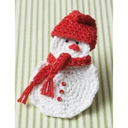 Snowman Gift Card Holder in Bernat Handicrafter Holidays