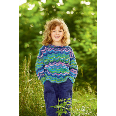 Child's Sweater in Schachenmayr Catania Color - S7370