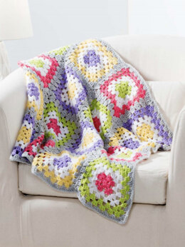 Granny's Rainbow Blanket in Premier Yarns Anti-Pilling Everyday Baby - Downloadable PDF