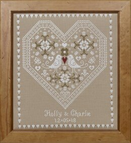 Historical Sampler Company Love Birds Wedding Sampler Cross Stitch Kit