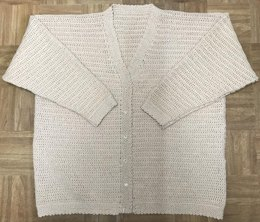 Easy Lady's Crochet Cardigan Pattern