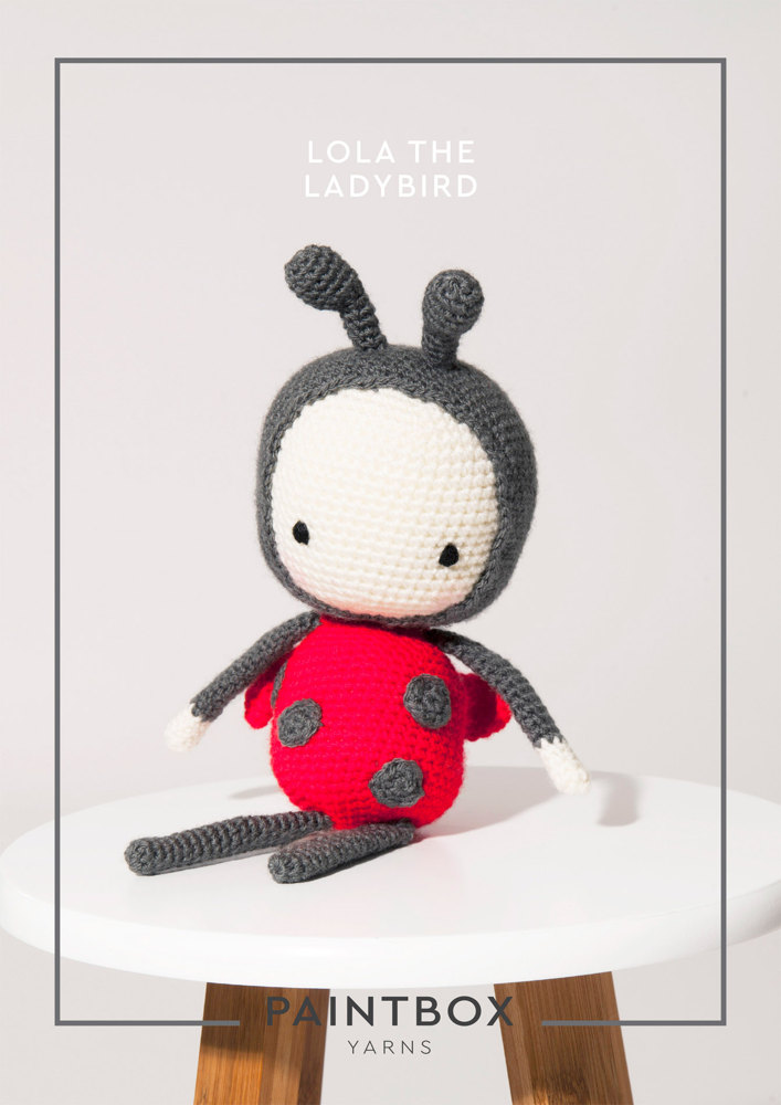 Lola The Ladybird In Paintbox Yarns Simply Dk Dk Cro Toy 005