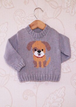 Intarsia - Doggy Chart - Childrens Sweater
