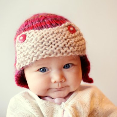 Curtiss - a bulky weight baby aviator hat