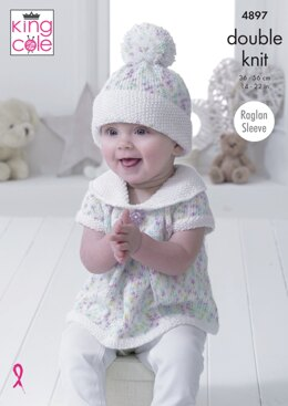 Baby Set in King Cole DK - 4897 - Downloadable PDF
