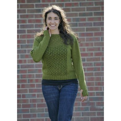 Lace Panel Pullover