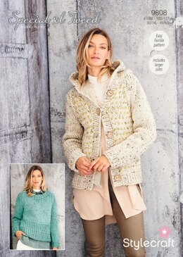Women Jumpers in Stylecraft Special XL Tweed - 9808 - Downloadable PDF