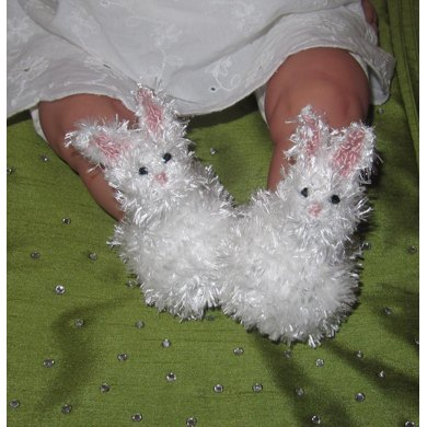 Baby Fluffy Bunny Boots
