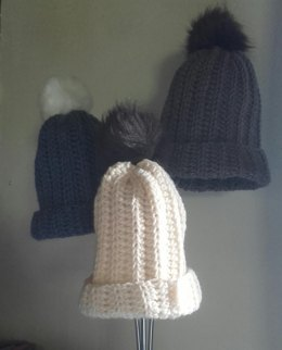 Ribbed beanie toddler - adult