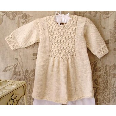 Baby girls dress with smocked front and back panel Knitting pattern ...