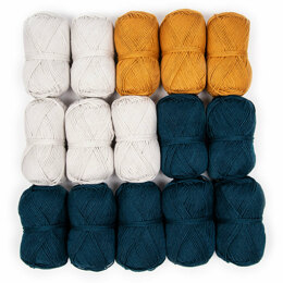 Debbie Bliss Baby Cashmerino Bhooked Small Poncho 15 Ball Color Pack