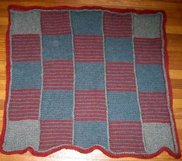 Tunisian Stripey Strippy Blanket