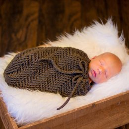 Spiral Herringbone Baby Cocoon or Swaddle Sack