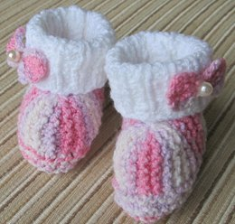 Princess Multicolor Booties with Bows