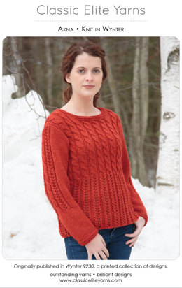 Akna Pullover in Classic Elite Yarns Wynter