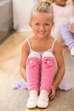 Ballerina Bloom Legwarmers in Red Heart Soft Baby Steps Solids - LW5050