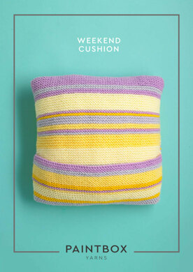Weekend Cushion in Paintbox Yarns Simply Chunky - Downloadable PDF