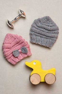 Preemie Baby Hats in Red Heart Soft Heathers - LW4475