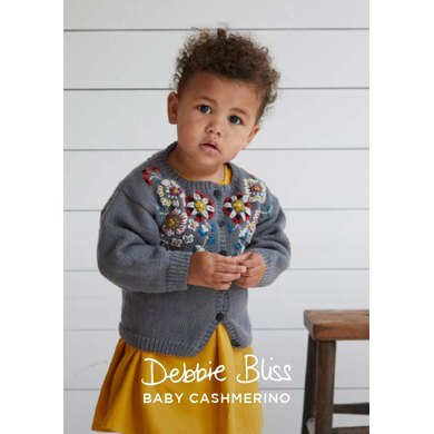 Gisela Cardigan in Debbie Bliss Baby Cashmerino - DB272 - Downloadable PDF