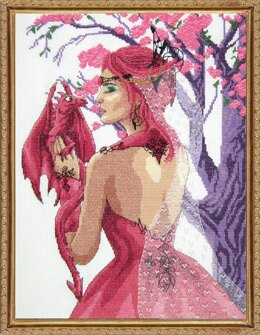 Janlynn Corporation Dragon Princess Cross Stitch Kit - 28cm x 38cm