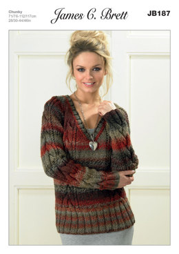 Sweaters in James C. Brett Marble Chunky - JB187
