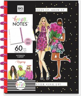 Happy Planner Big Notebook W/60 Sheets - Never Give Up X Rongrong