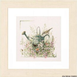 Lanarte Watering Can Cross Stitch Kit - Multi