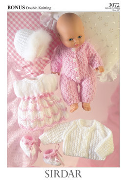 Dress, Bootees,All In One, Jacket And Bonnet in Hayfield Baby Bonus DK - 3072 - Downloadable PDF