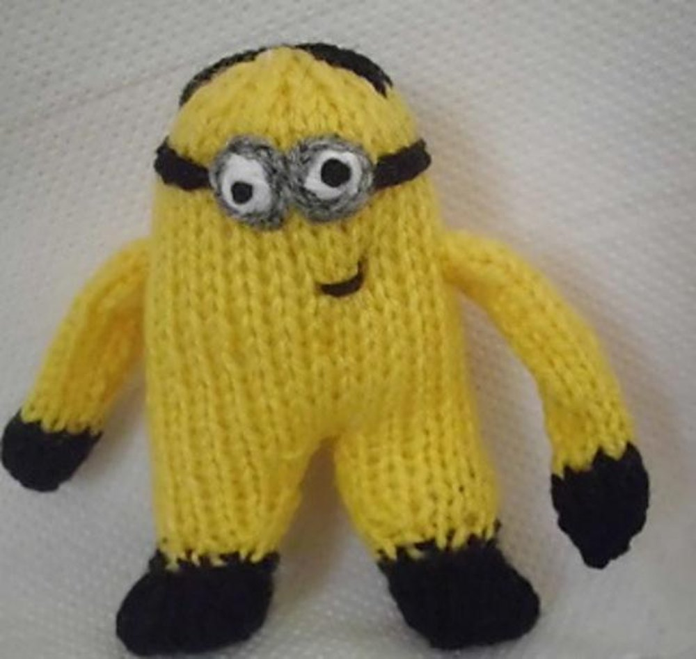 Knitting Pattern For Minion Jumper : Cheeky Minion Knitting pattern by Hennie Knitting ...