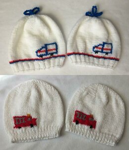 Mail or Fire Truck Hats