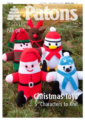 Christmas Toys in Patons Patons Fab DK 25g