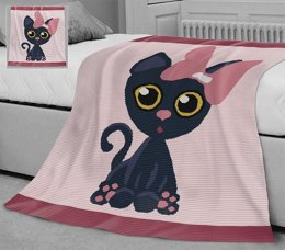 CROCHET Bed Throw - Meow