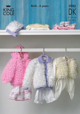 Loopy Jackets, Hat and Bolero in King Cole Comfort Baby DK - 2985