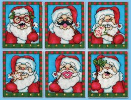 Design Works Selfie Santa Ornaments Counted Cross Stitch Kit