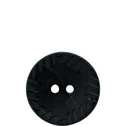 Crimped Edge Coconut 30mm 2-Hole Button