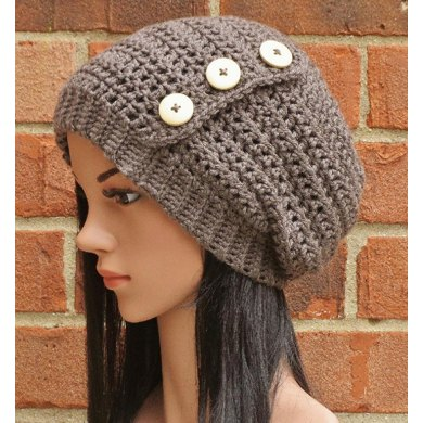Hadley Button Slouch Hat