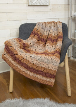 Chestnut Throw in Premier Yarns Serenity Chunky Big Ombre - Downloadable PDF