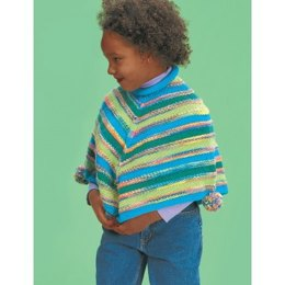 Striped Poncho in Patons Astra