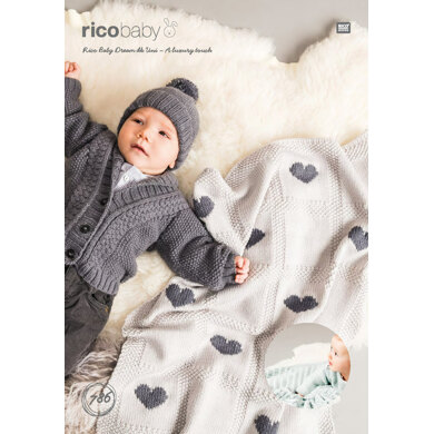 Baby Blankets in Rico Baby Dream DK - 786 - Downloadable PDF