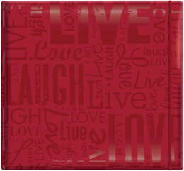 "MBI Gloss Post Bound Album 12""X12"" - Live, Love & Laugh - Red"
