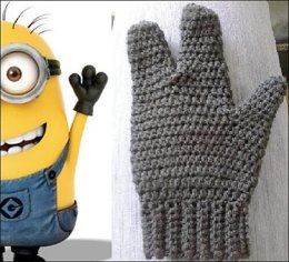 3 Finger Minion Mittens