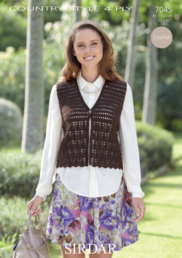 Waistcoat in Sirdar Country Style 4 Ply - 7045