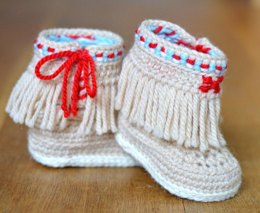 Moccasin Fringe Booties
