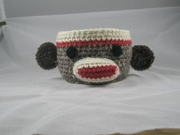 Sock  Monkey Bowl / Container