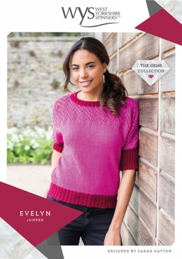 Evelyn Jumper in West Yorkshire Spinners Wensleydale Gems Hanks - WYS90995