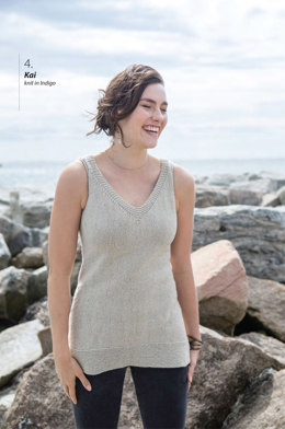 Kai Top in Berroco Indigo - Downloadable PDF