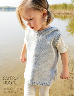 Cameron Hoodie in Blue Sky Fibers Worsted Cotton - 2810 - Downloadable PDF